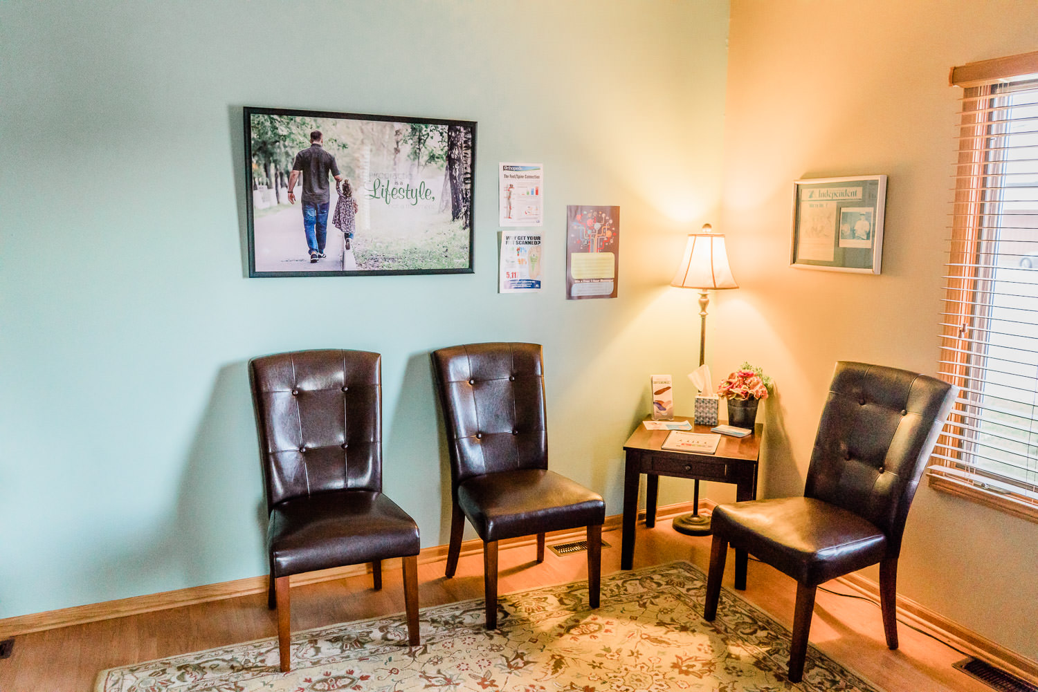 waiting area at Duncan Chiropractic Health Center